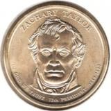 1 доллар 2009 D, З. Тэйлор (12й президент)