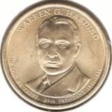1 доллар 2014 D, У. Г. Хардинг (29й президент)