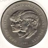 25 пенсов (крона) 1981, Чарльз и Диана