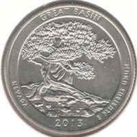 25 центов 2013 S, Большой Бассейн (Невада)