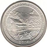 25 центов 2014 D, Великие Дымчатые Горы (Теннесси)
