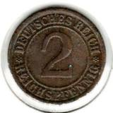 2 рейхспфеннига 1924 А