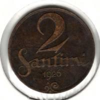 2 сантима 1926