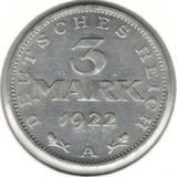 3 марки 1922 А, 3 года Конституции