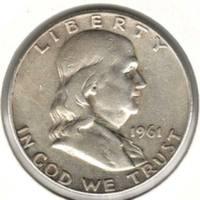 50 центов 1961 D, Франклин