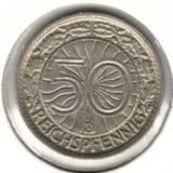 50 рейхспфеннигов 1928 D