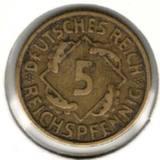 5 рейхспфеннигов 1925 Е