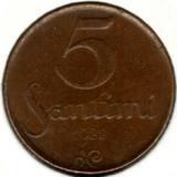 5 сантимов 1922