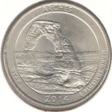 25 центов 2014 D, Арки (Юта)